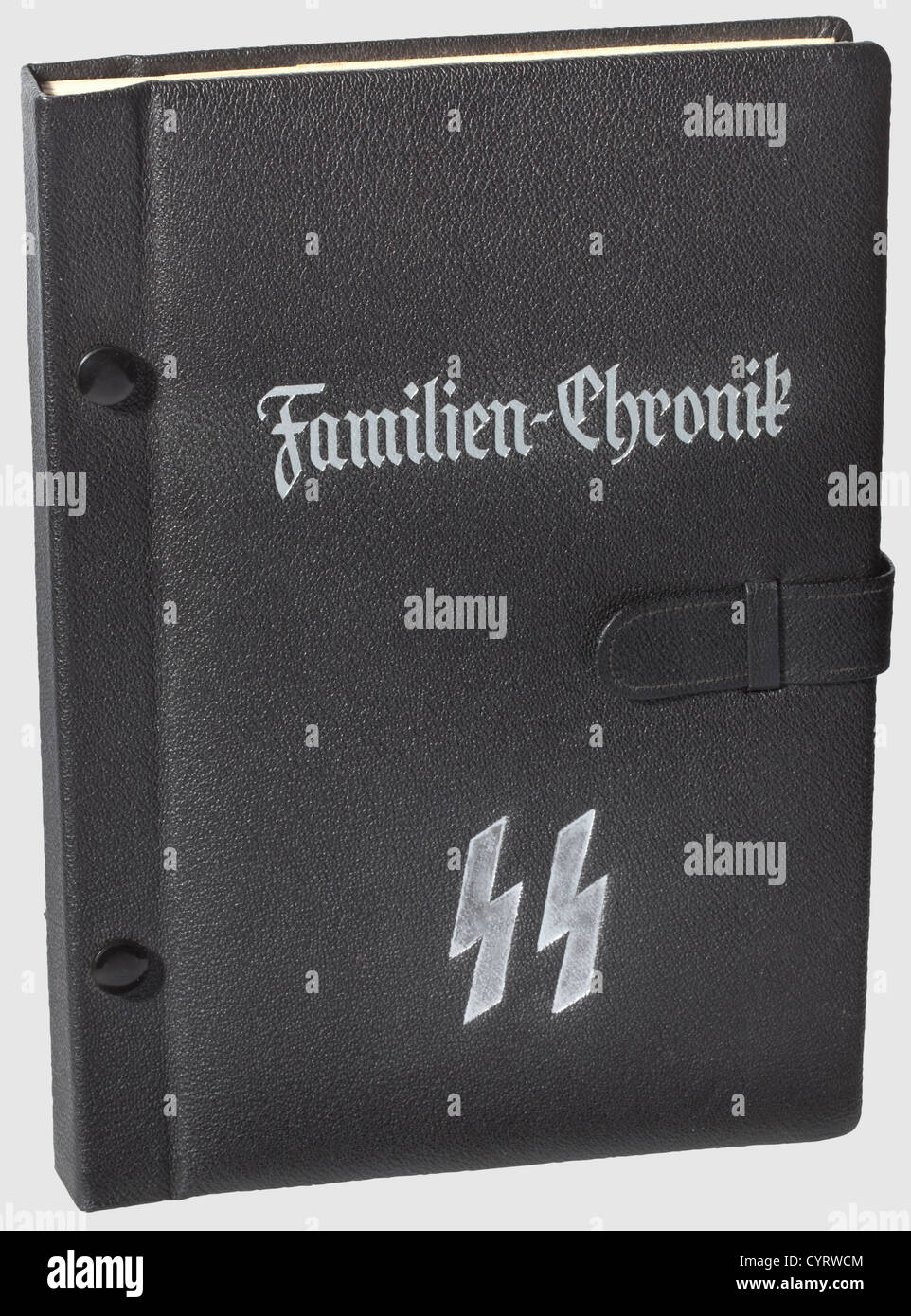 A Schutzstaffel family chronicle, an SS showcase album A well preserved blank example of an SS family chronicle - Stock Image