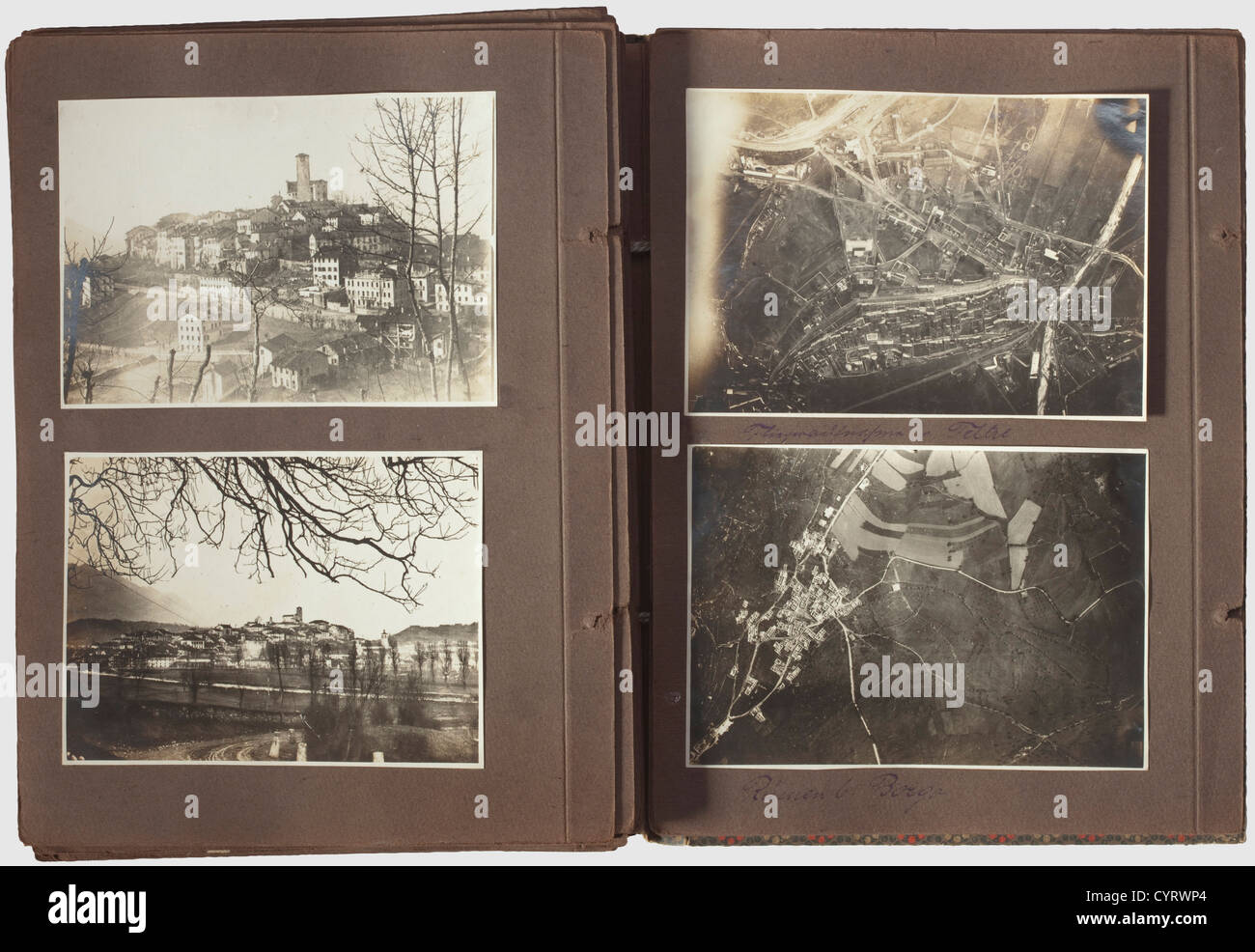Imperial and Royal flying troops - Isonzo front,a photo album of a Combat Squadron member Neutral album with 105 Stock Photo