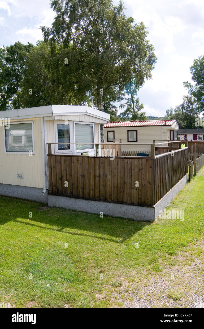 trailer park parks mobile home homes trailers or house static caravans caravan houses site sites mobilehome mobilehomes Stock Photo