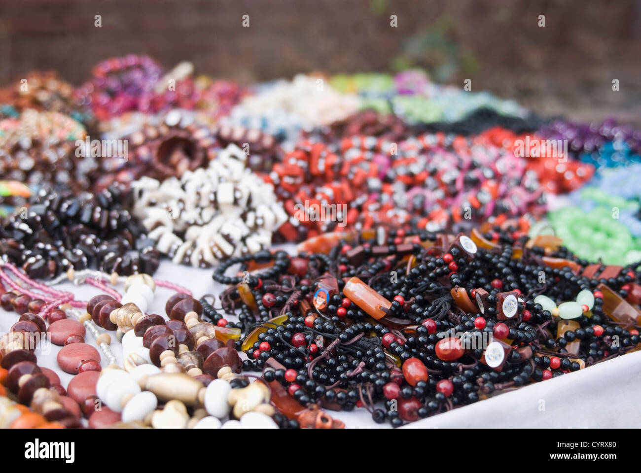 Close Up Of Craft Products At A Market Stall New Delhi India