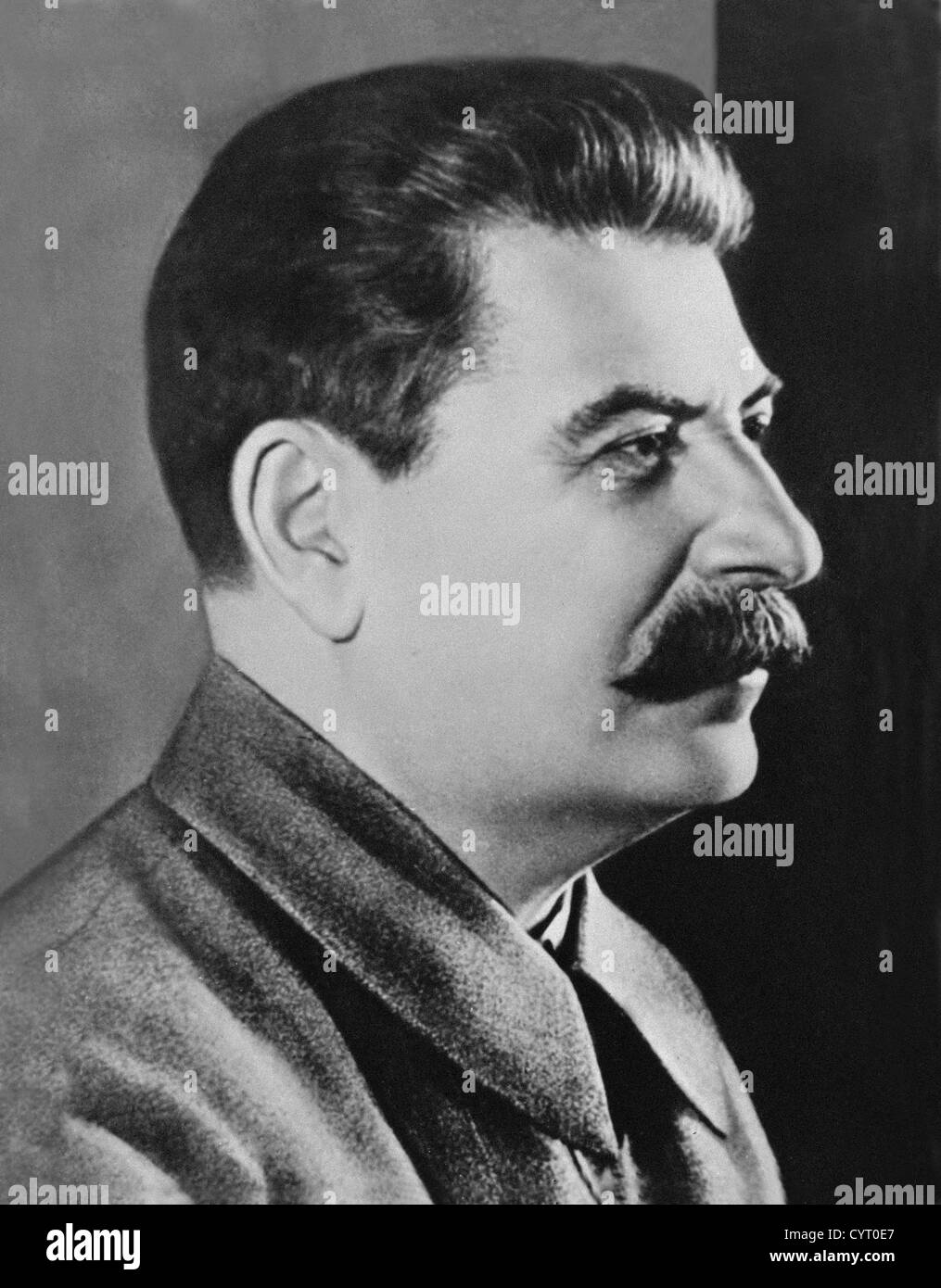 Joseph Vissarionovich Stalin was the Premier of the Soviet Union from 6 May 1941 until his death in 5 March 1953. - Stock Image