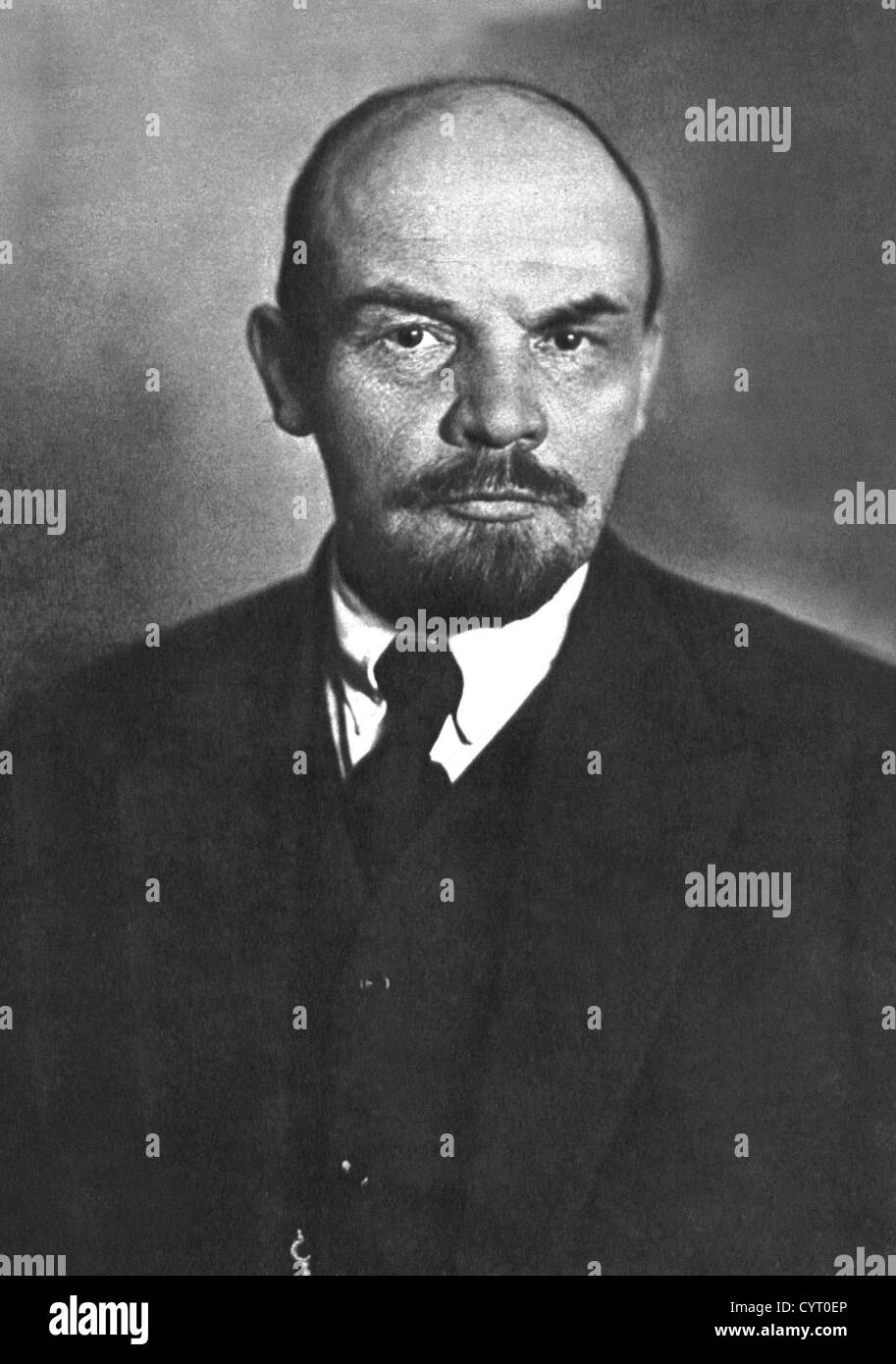 Vladimir Ilyich Lenin was a Russian communist revolutionary, politician and political theorist who served as the - Stock Image