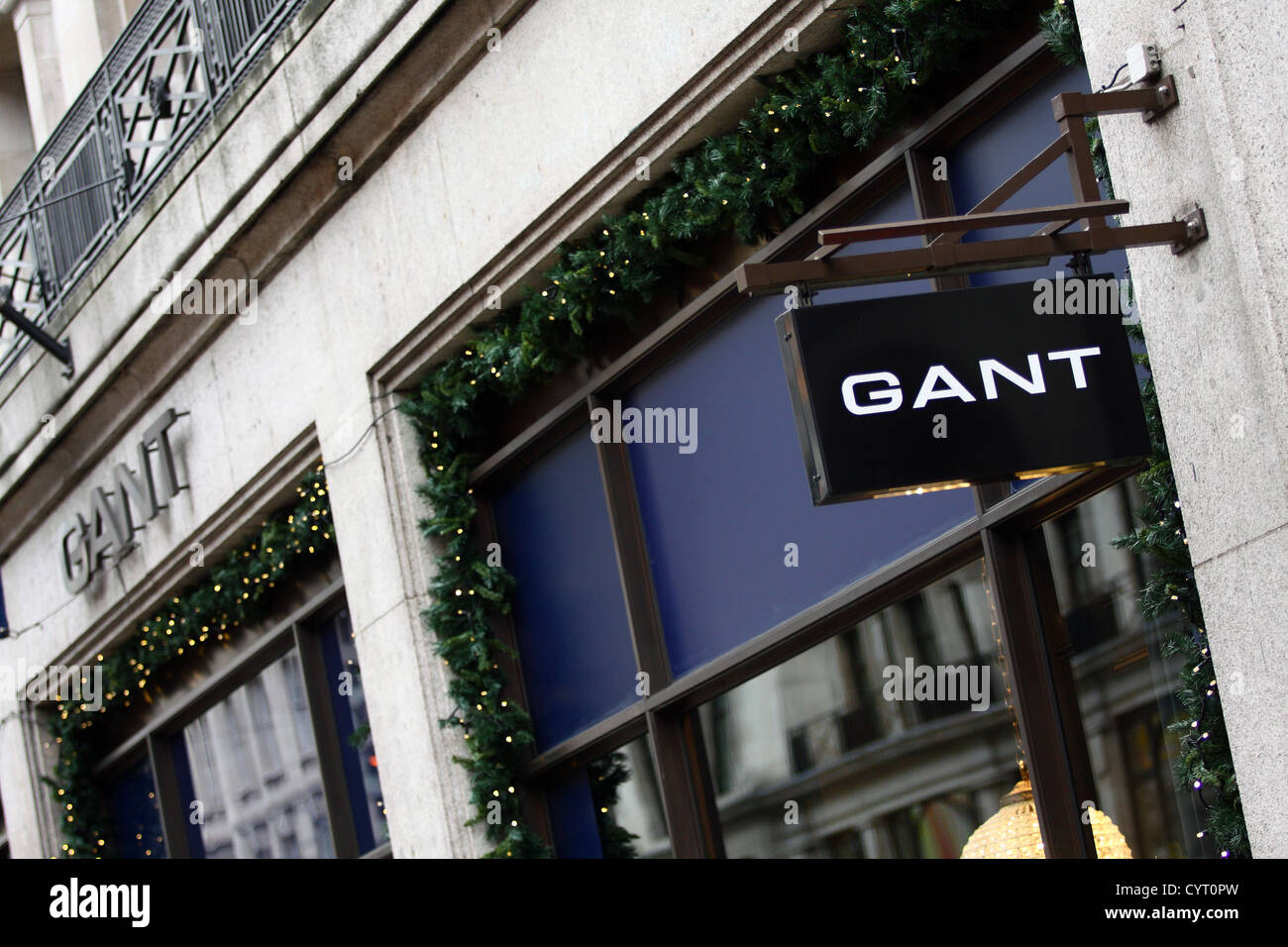 babc7febed A hanging sign and shop sign for the Gant store in Regent Street, London -