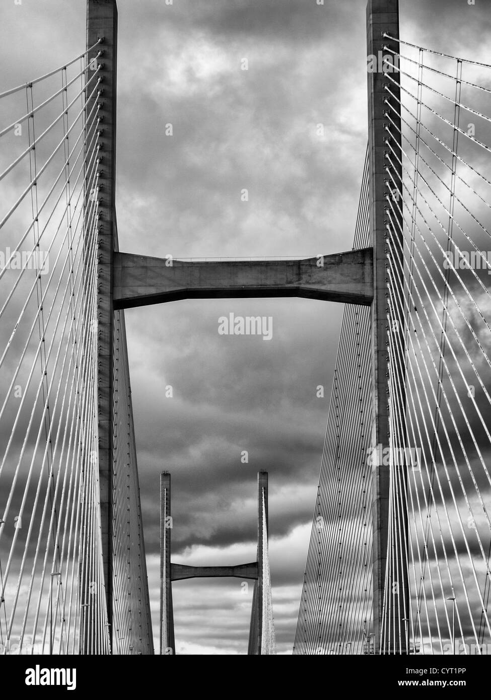 M4 Second Severn Crossing between England and Wales - Stock Image