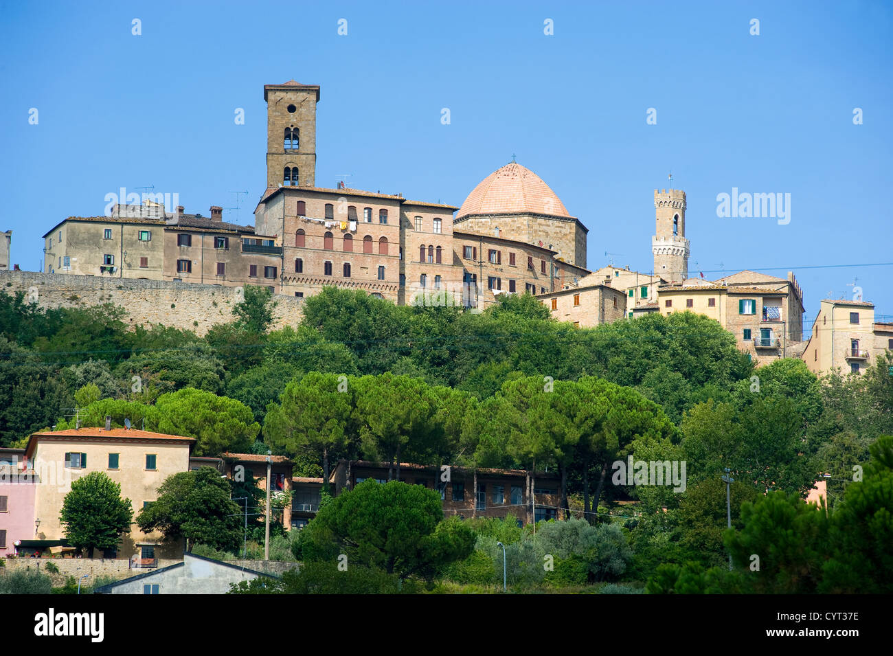 The city of Volterra in Tuscany in Italy. - Stock Image