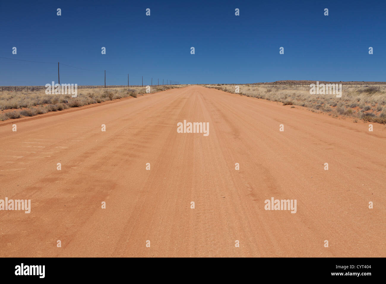 Sand road between Aus and Helmeringhausen, southern Namibia - Stock Image