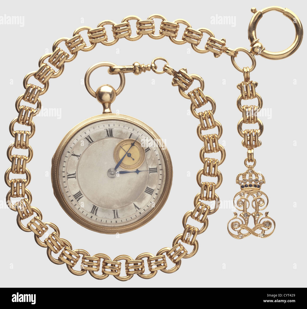 King Maximilian II (1811 - 1864) - King Ludwig II (1845 - 1886), a golden repeater watch with watch ch historic, - Stock Image