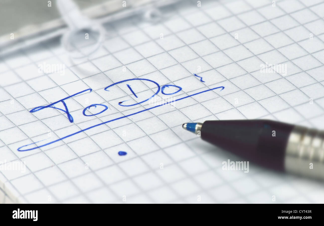 to-do list - Stock Image