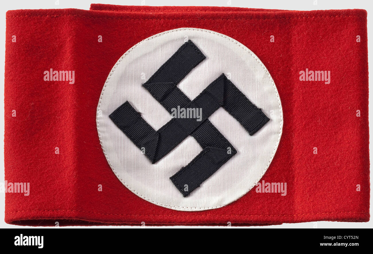 Joachim von Ribbentrop (1893 - 1946) - Lieutenant Noel Kenneth Stone, an armband for the party uniform, a war souvenir Stock Photo