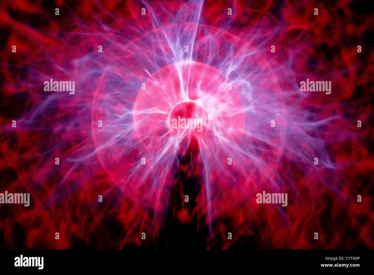 Particle explosion alike artistic creation for background - Stock Image