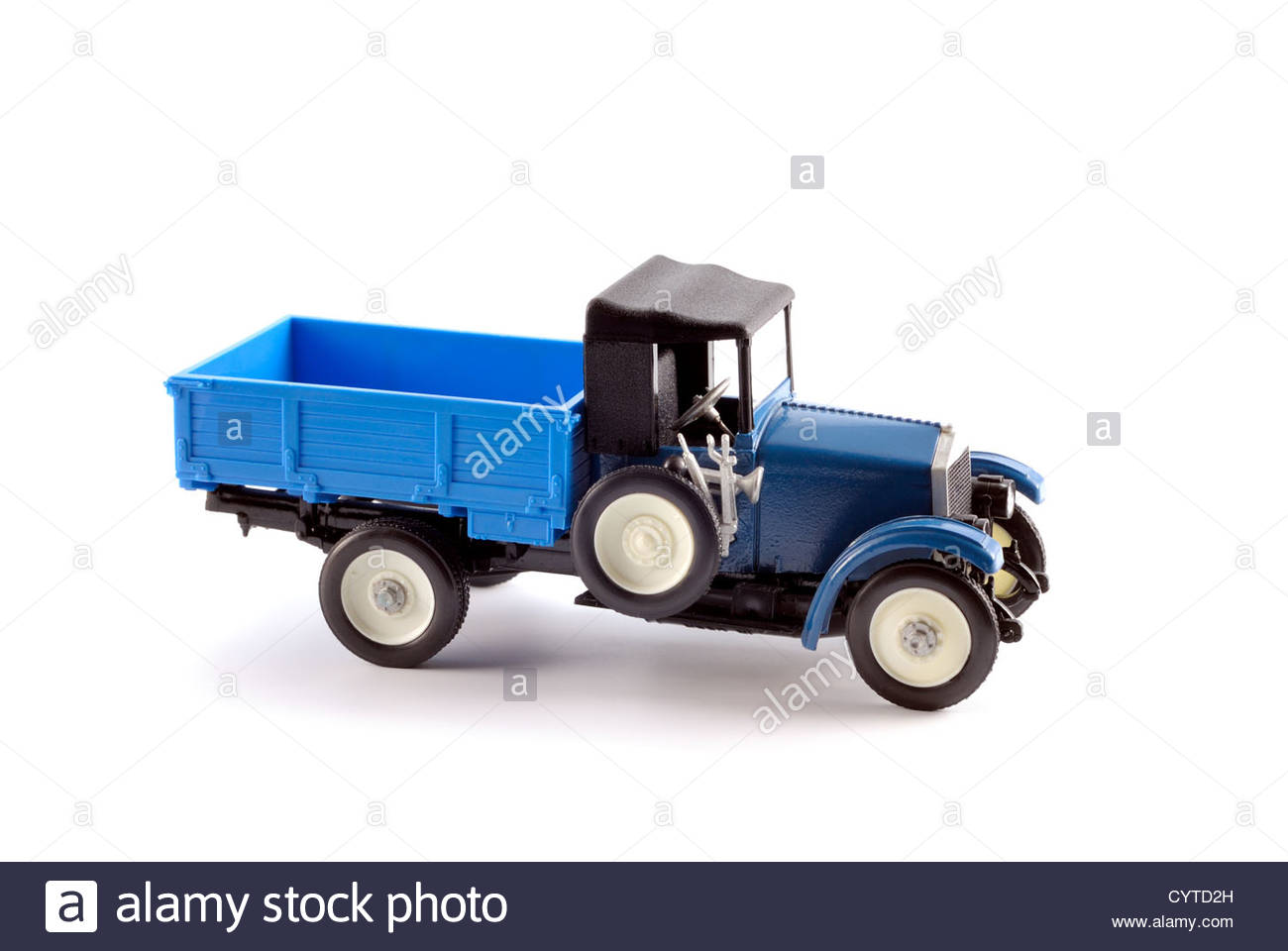 Collection scale model of the truck on a light background - Stock Image