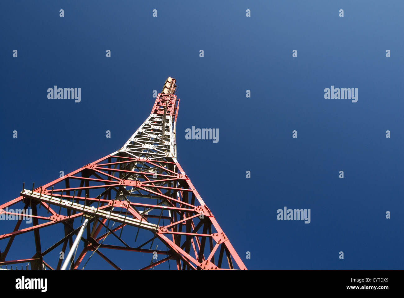 It is a discard of electronic tower. - Stock Image