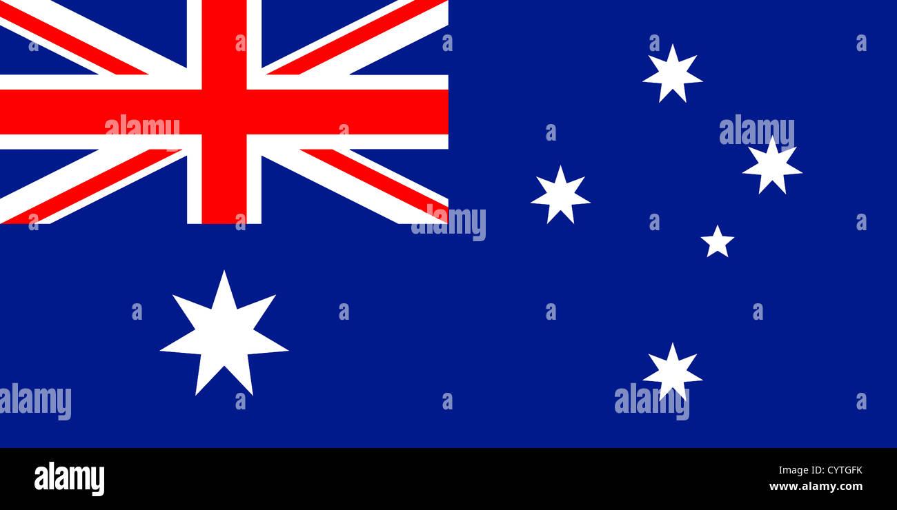 Flag of Australia - Commonwealth of Australia. - Stock Image