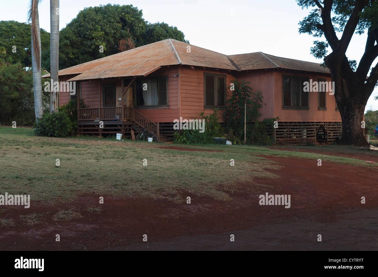 Elk284-7264 Hawaii, Kauai, Ele'ele, company houses - Stock Image