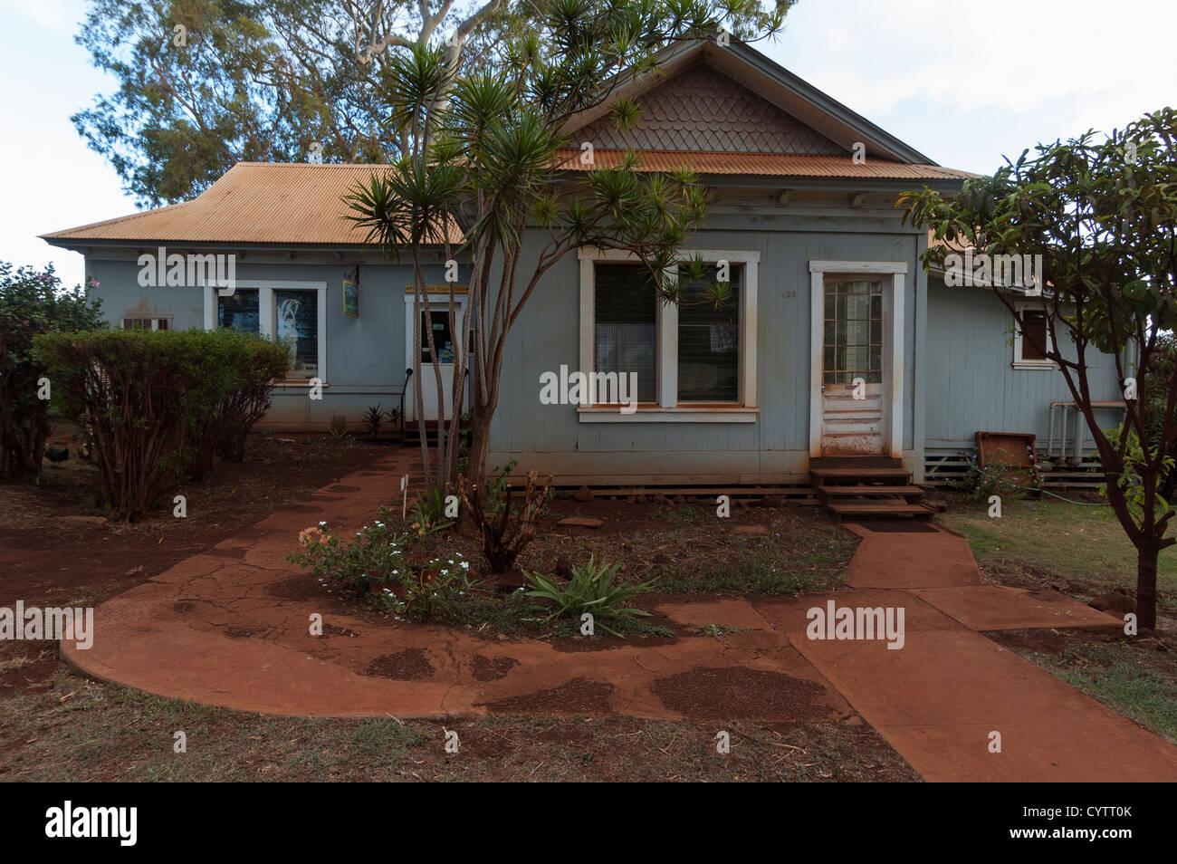 Elk284-7268 Hawaii, Kauai, Ele'ele, company houses - Stock Image