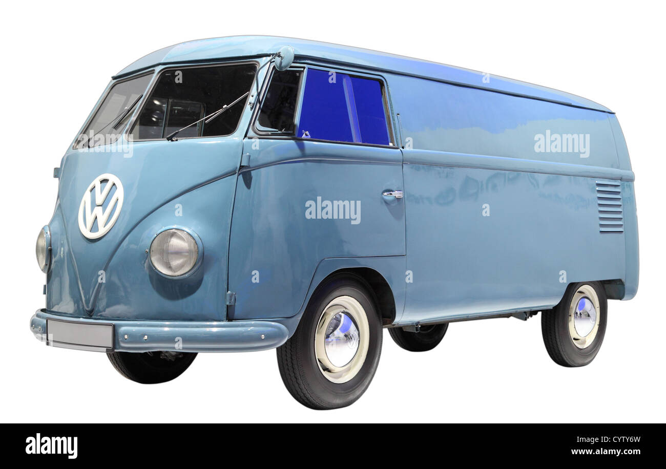 Volkswagen bus type 1 from 1950. Isolated over white background - Stock Image