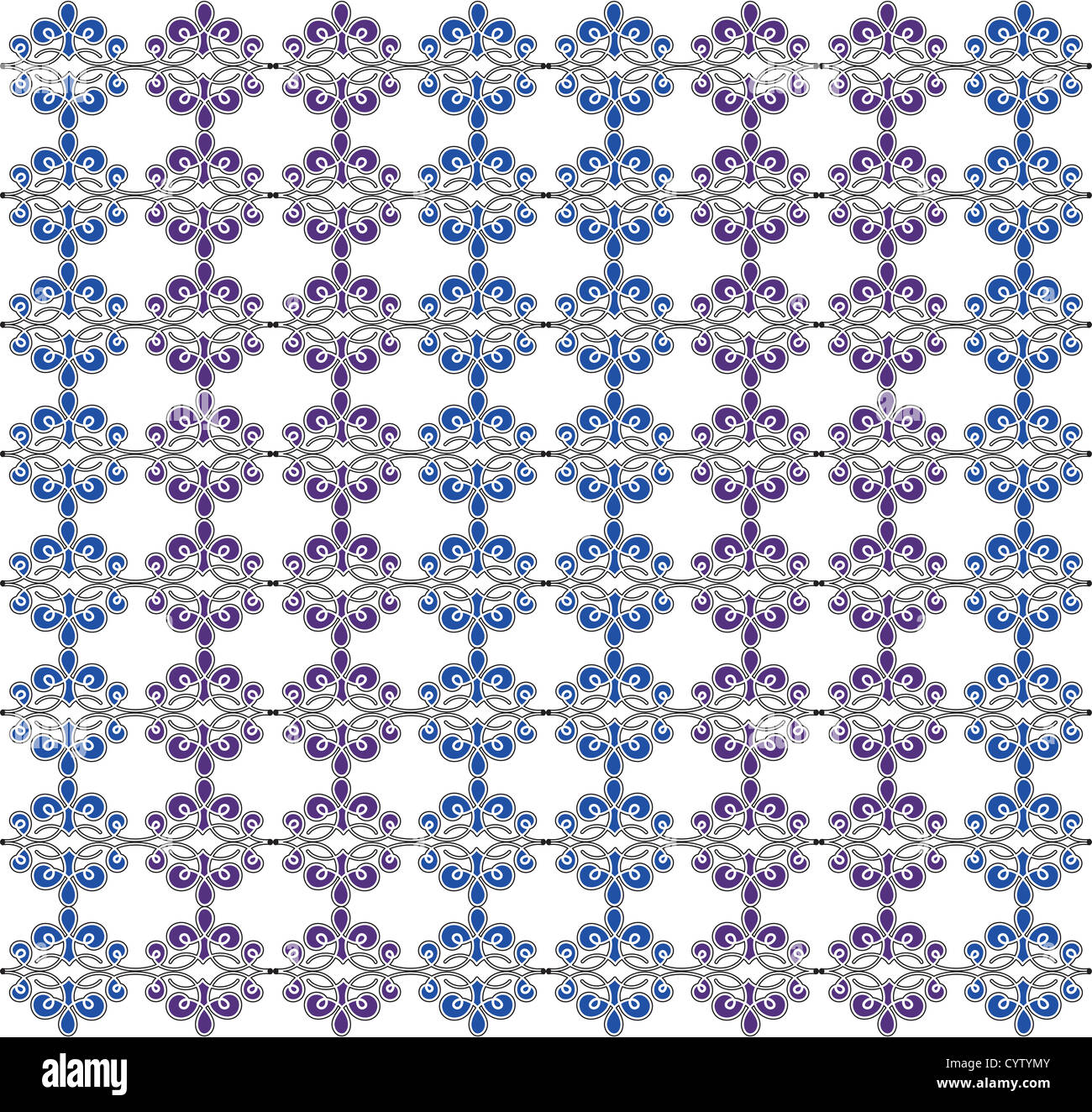 A blue and purple pattern - Stock Image