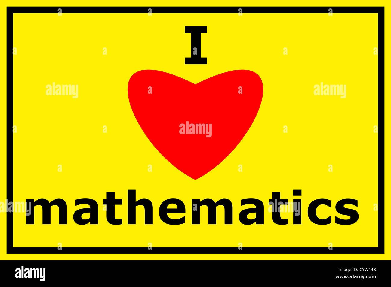 i love math stock photos & i love math stock images - alamy