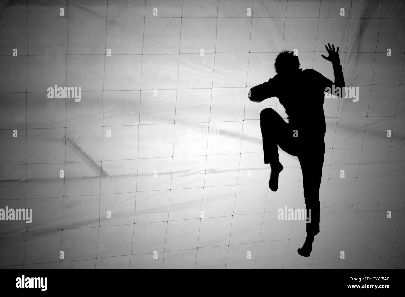 Net climbing - Stock Image