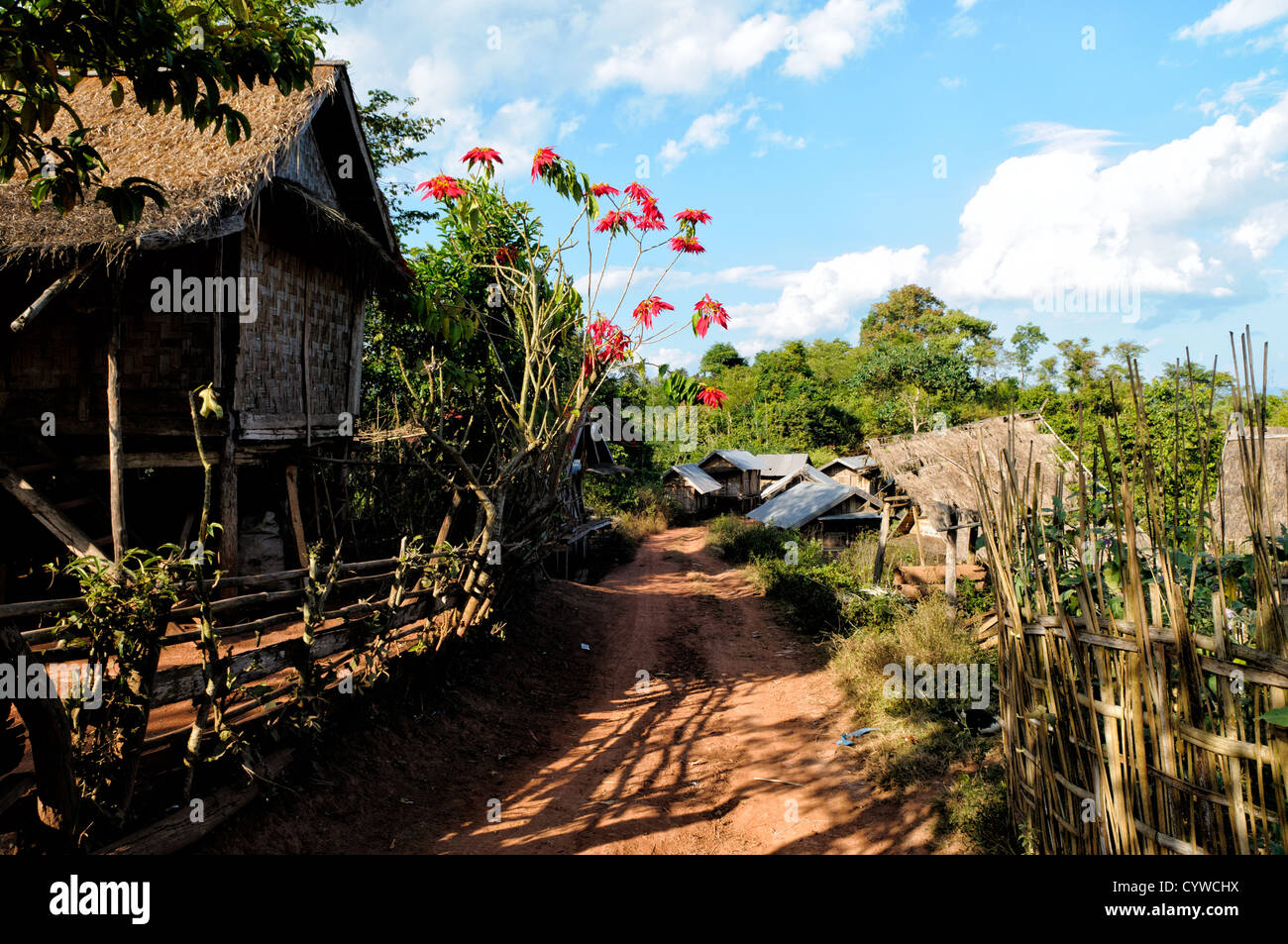 LUANG NAMTHA, Laos - A small village in Luang Namtha province in northern Laos. - Stock Image