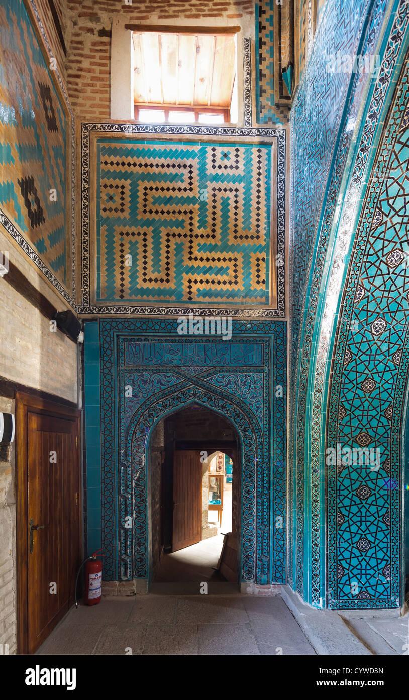 entrance to mausoleum, Sahib Ata complex, Konya, Turkey - Stock Image