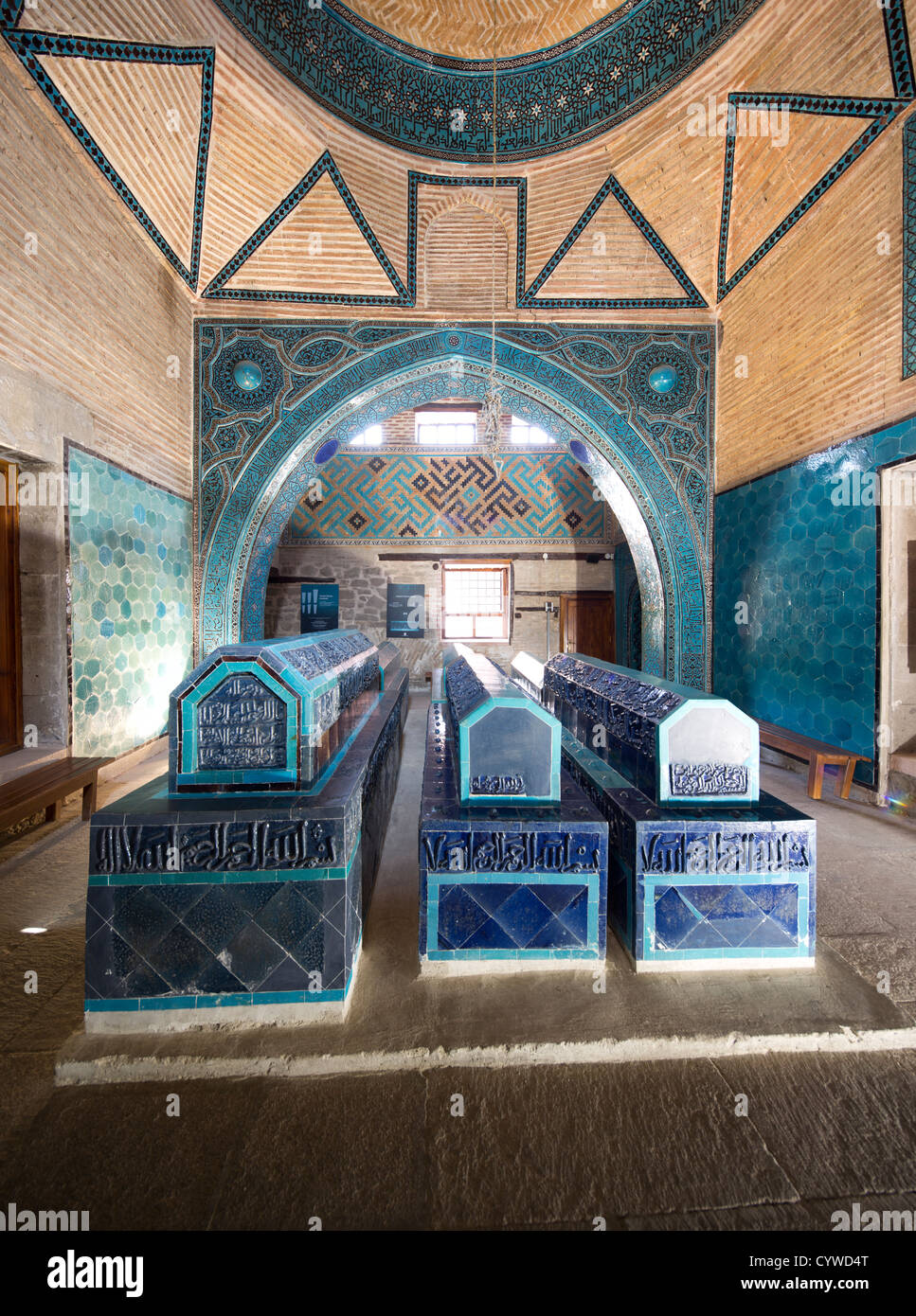 mausoleum, Sahib Ata complex, Konya, Turkey - Stock Image