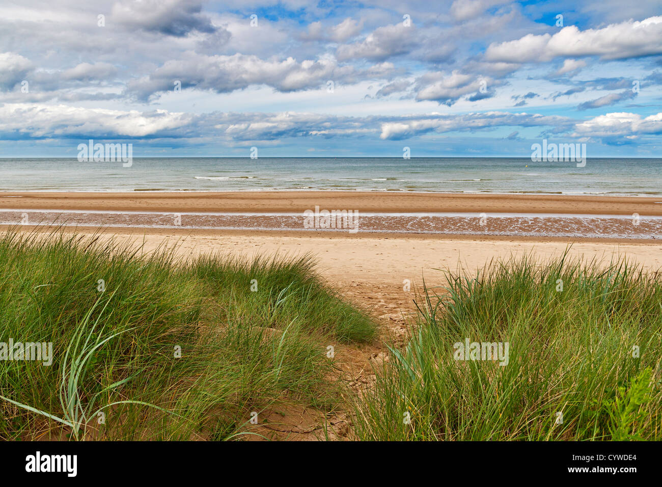 Omaha Beach, one of the D-Day beaches of Normandy, France Stock Photo