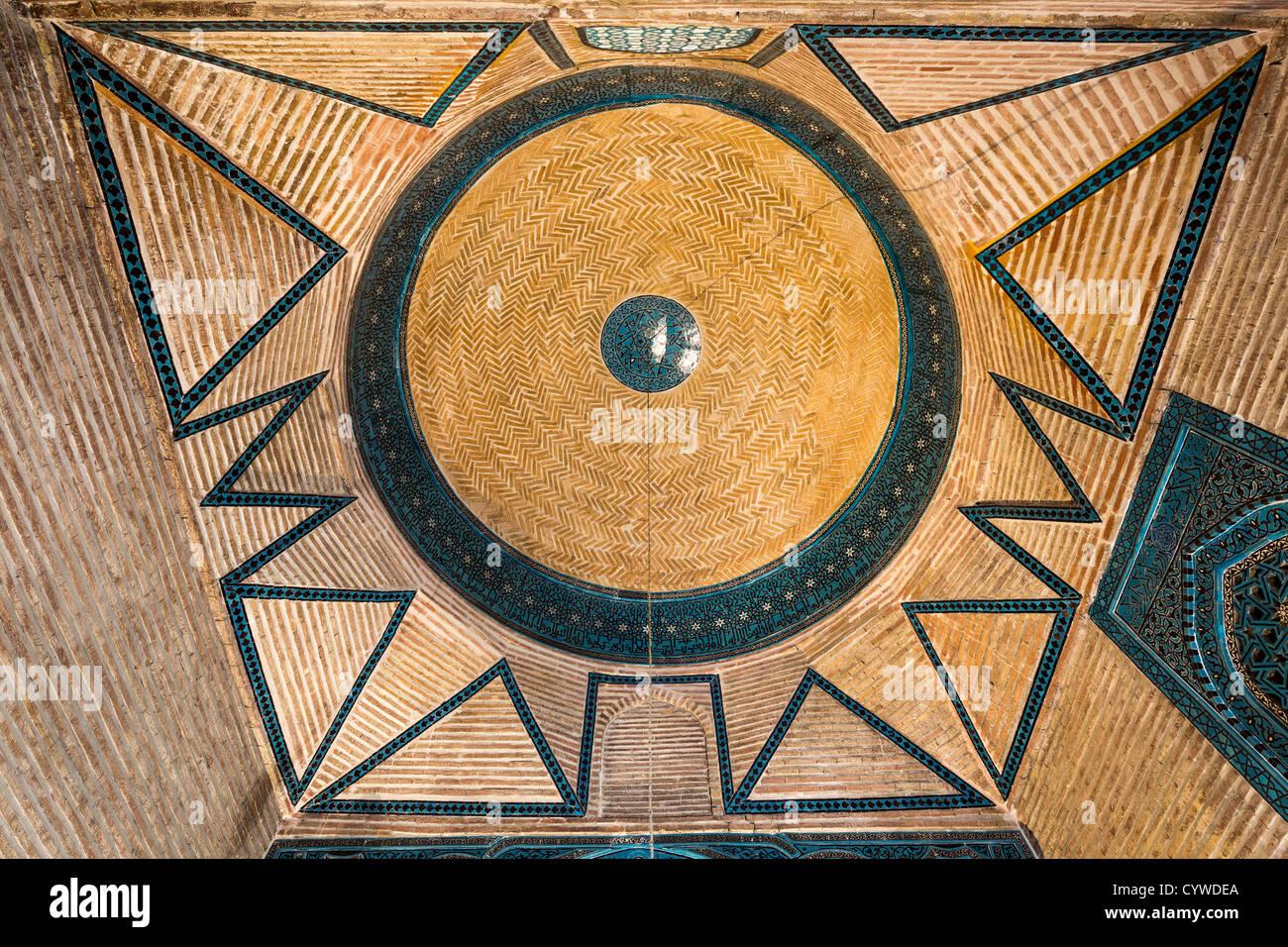 dome of mausoleum, Sahib Ata complex, Konya, Turkey - Stock Image