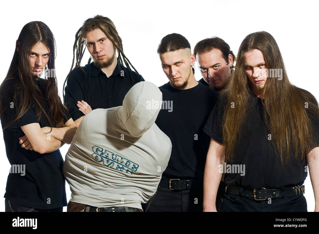 death metal band members group stock photo 51575876 alamy