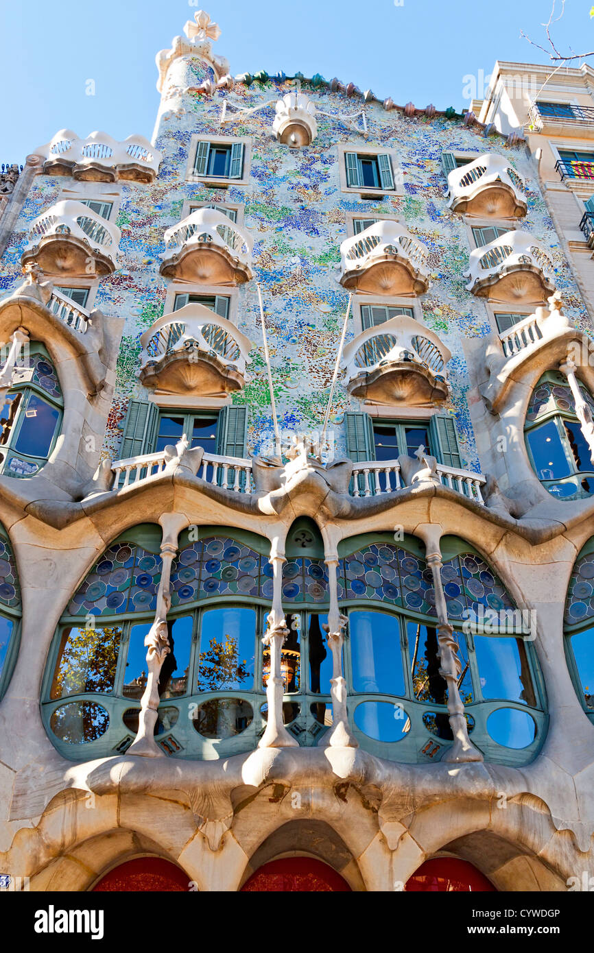 Casa batllo famous design by antoni gaudi stock photo for Design casa