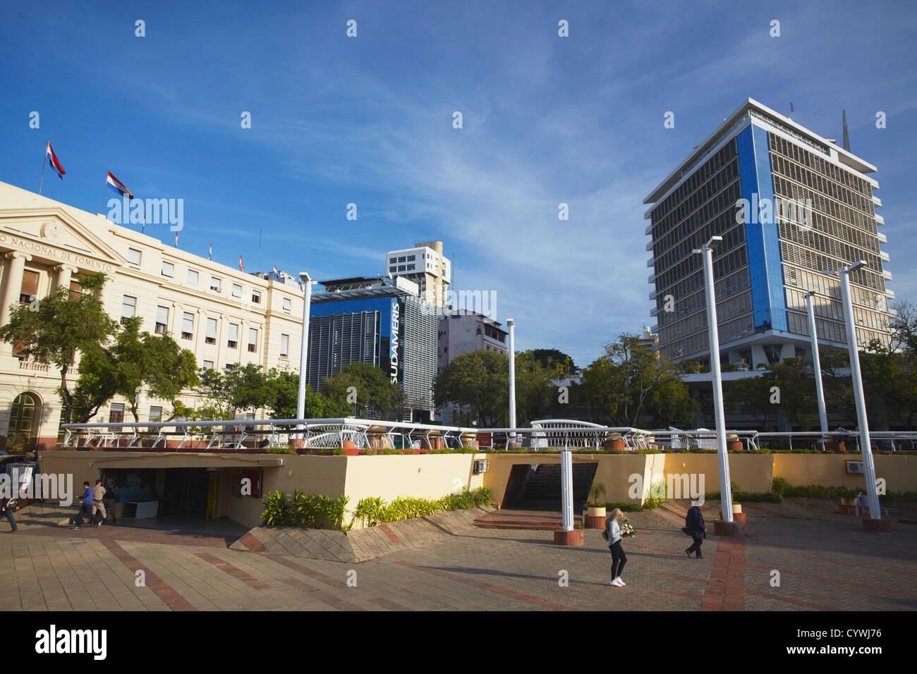 Plaza de los Heroes, Asuncion, Paraguay - Stock Image