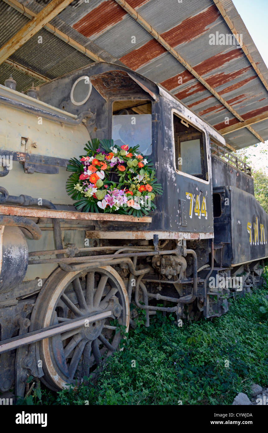 A  Japanese Kawasaki locomotive used on the River Kwai death railway to transport troops and munitions into Burma. - Stock Image