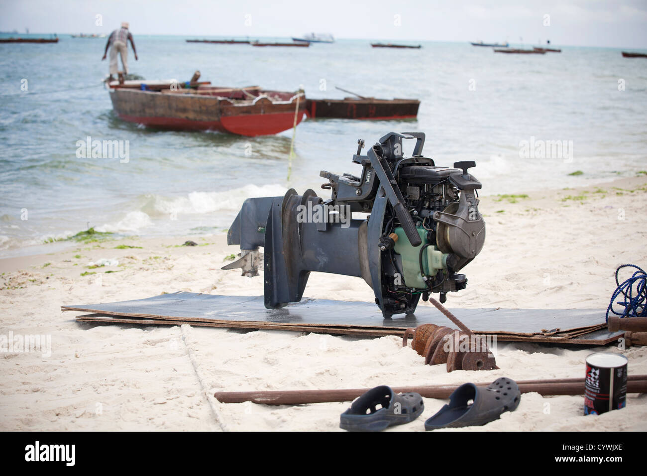 Dismantled engine stock photos dismantled engine stock for Trolling motor repair near me