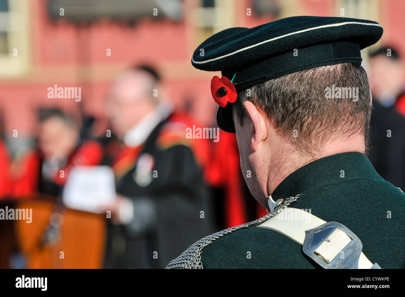 Sunday 11th November 2012, Carrickfergus, Northern Ireland.  Members of the Royal British Legion, serving armed - Stock Image