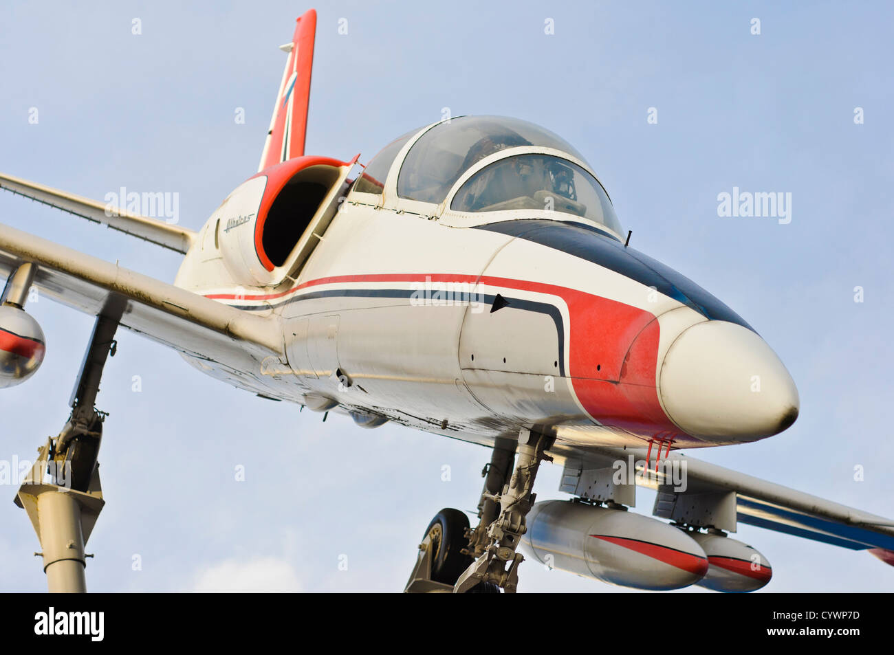 AERO L-39 Albatros jet fighter trainer aircraft - Car & Technology Museum Sinsheim, South Germany - Stock Image