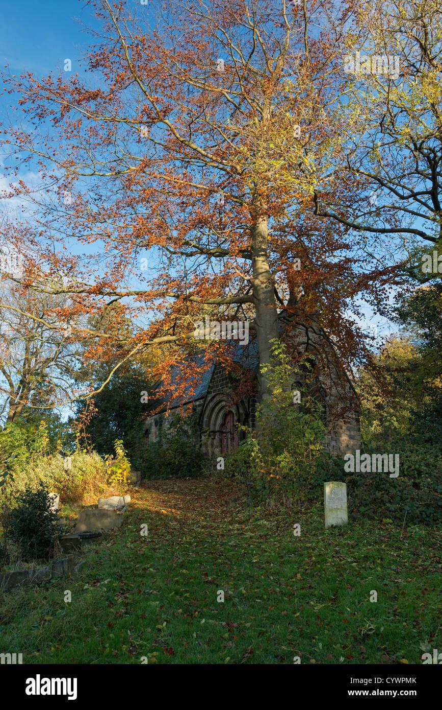 Abandoned churchyard - Stock Image