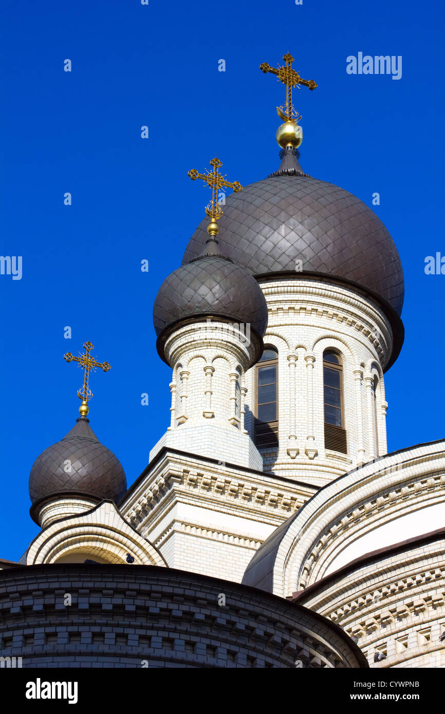 Dome Valaam monastery in St. Petersburg, Russia - Stock Image