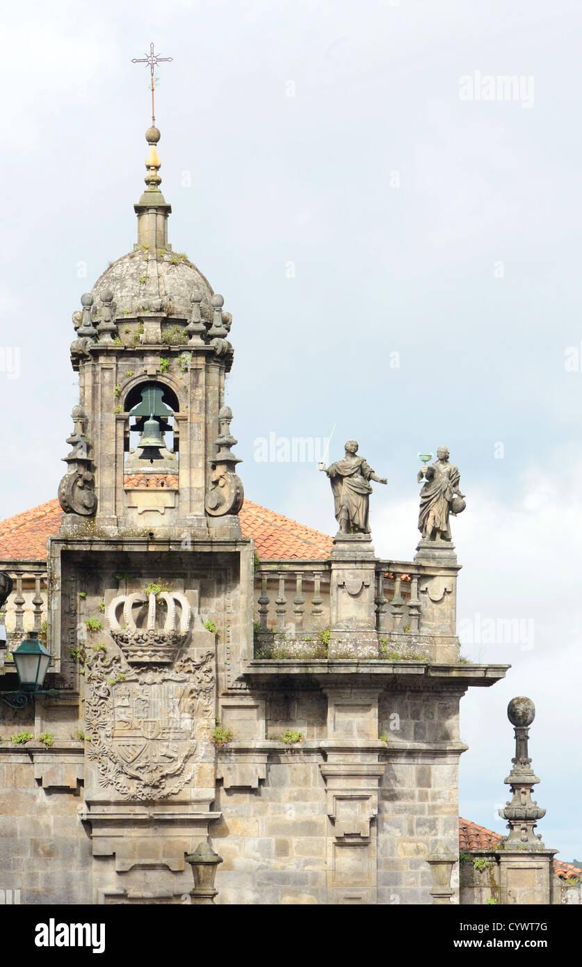 Bell tower.  Santiago Cathedral. . Santiago de Compostela, Galicia, Spain. 29Jun12 - Stock Image