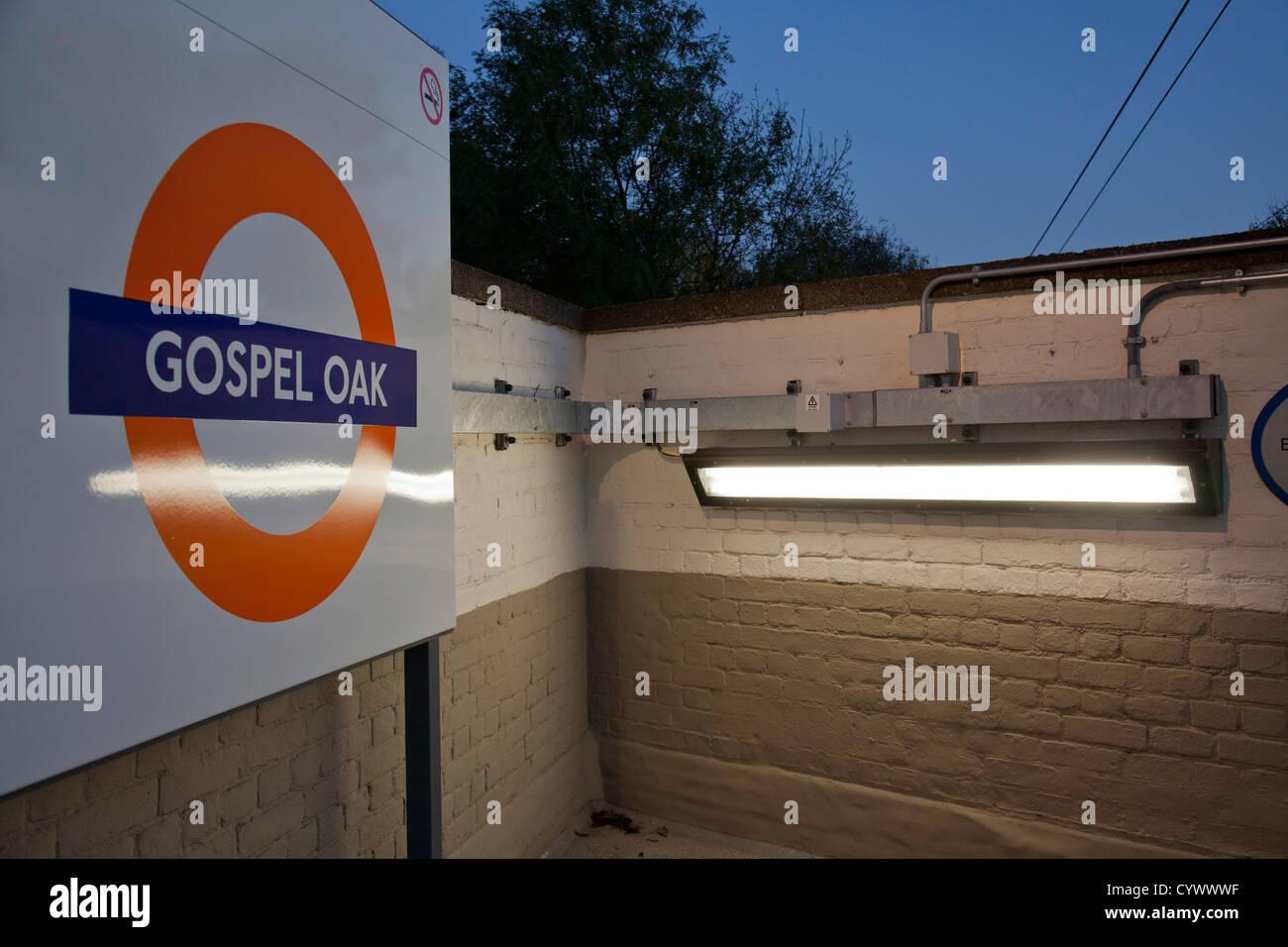 Gospel Oak overground station in London, UK - Stock Image