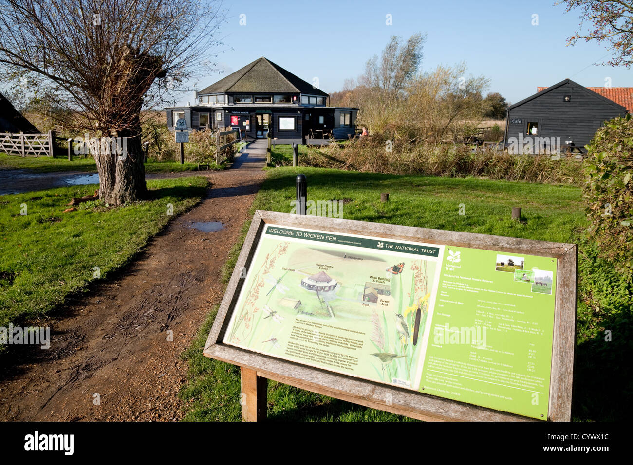 The entrance to Wicken Fen, Cambridgeshire, East Anglia UK - Stock Image