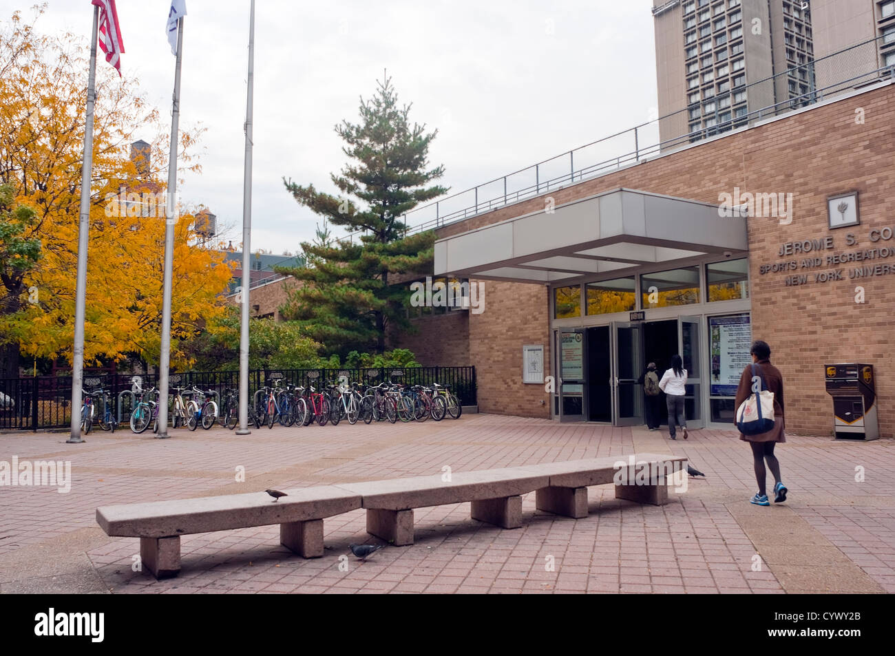 Coles Sports and Recreation Center entrance - Stock Image