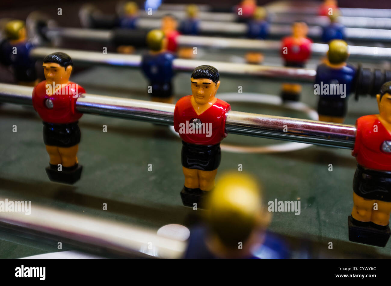Table football game close up - Stock Image