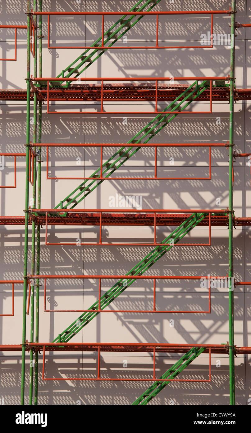 scaffolding construction background - Stock Image