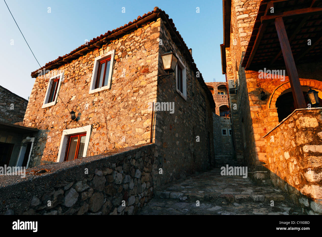 Old town of Ulcinj, the center of the Albanian community in Montenegro. Stock Photo