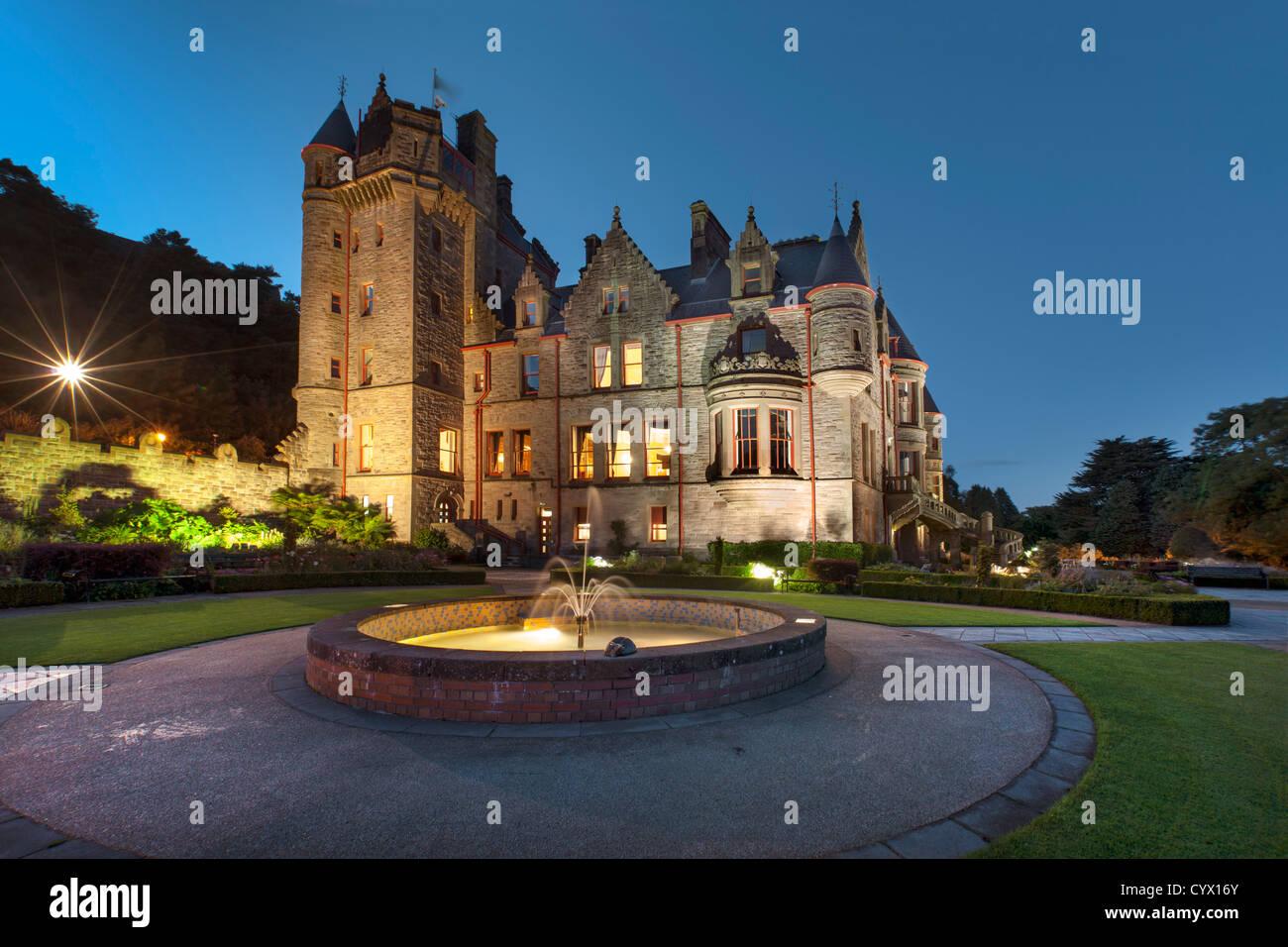 Night capture of Belfast Castle, Northern Ireland. - Stock Image