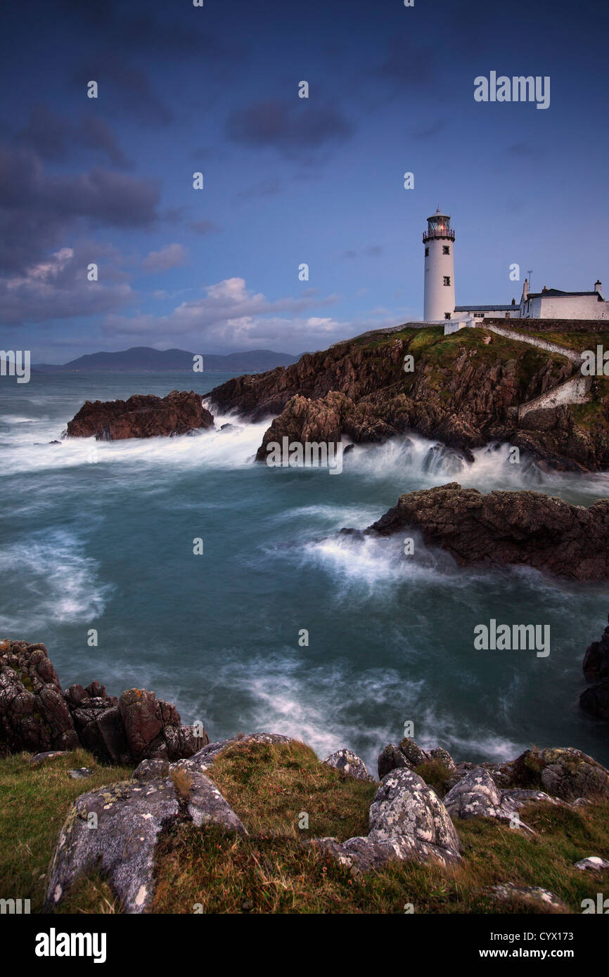 Night shot of Fanad lighthouse on the fanad peninsula,  County Donegal. Stock Photo
