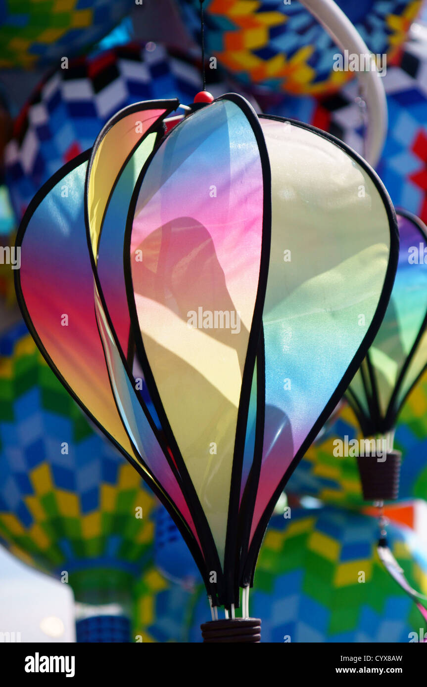 balloon article mobile colorful craft vendor wind balloons inflatable ascension albuquerque international - Stock Image