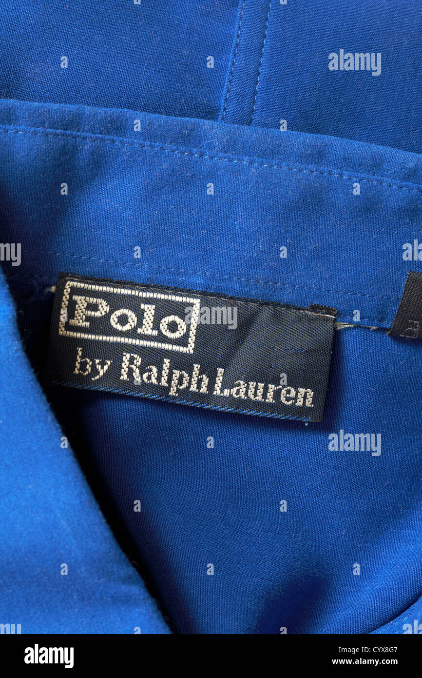 Ralph Photo51593927 Blue Stock Polo Label In By Alamy Lauren Shirt UzpSMV