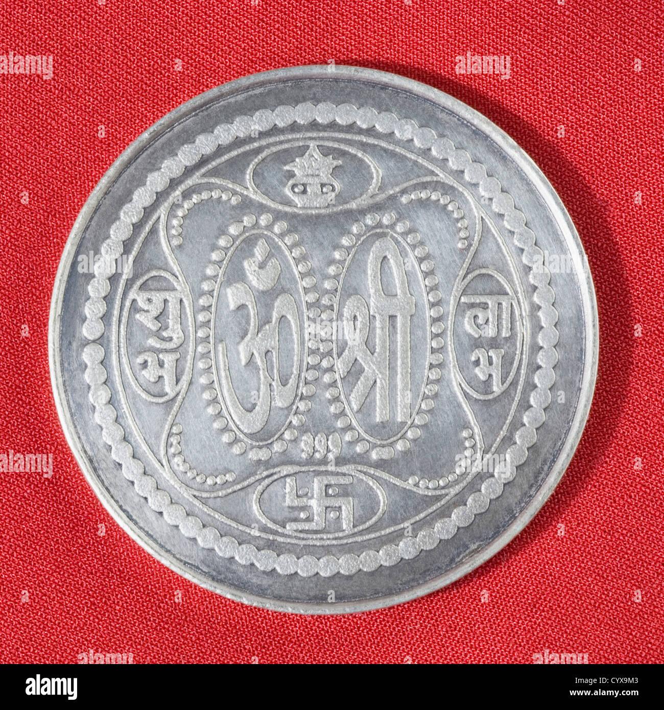 Indian Silver Coin Stock Photos & Indian Silver Coin Stock