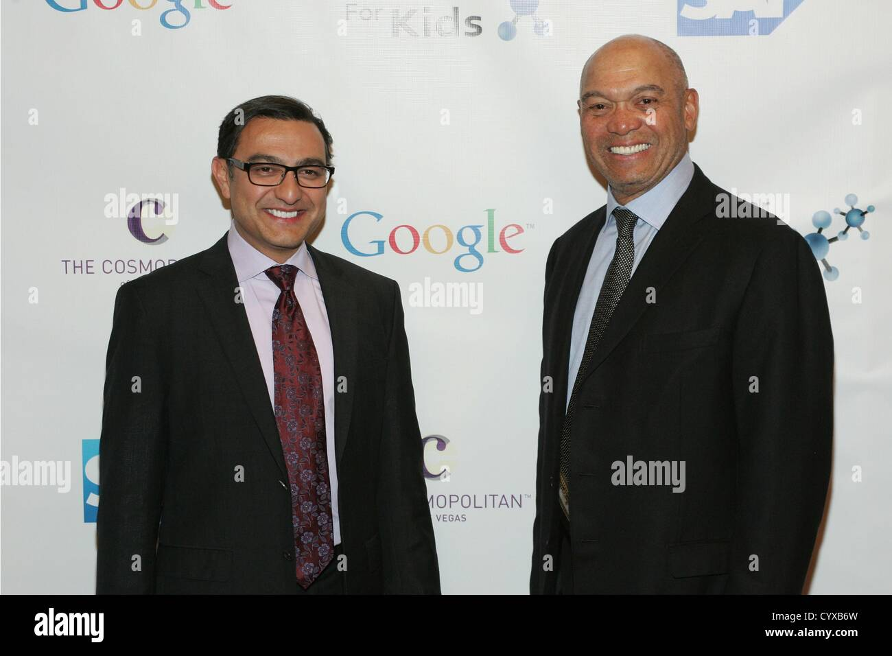 Vivek 'Vic' Gundotra, Reggie Jackson at arrivals for 8th All Star Celebrity Classic to Benefit Mr. October - Stock Image